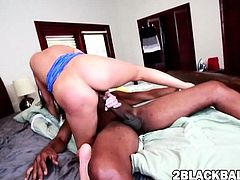 Nikki Daniels gets trimmed pussy banged by jumbo black dick