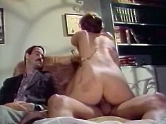Fuck addicted freaks sat on sofa. That bitchy black haired filth swallowed their massive hard bonkers one by one with passion. Look at that dirty FMM fuck in The Classic Porn sex clip!