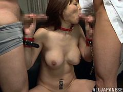 Aiko Sunakawa is a dirty mature whore who needs to get fucked right away. The naughty bitch gives fabulous blowjobs and handjobs right before she gets drilled in doggystyle.