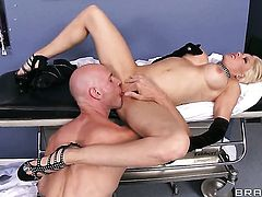Johnny Sins uses his hard meat pole to bring With massive jugs to the edge of nirvana