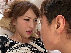 Are you a fan of Japanese bitches who love cock? The camera catches nice moments from a young couple's intimacy. The horny babe lays on the bed covered with white sheets. She seems to enjoy sucking his boyfriend's dick. Moreover, the cheeky girl looks very passionate about the 69 position. Click to see!