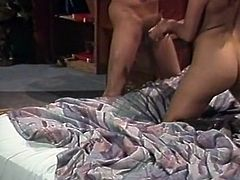 Black haired wanton mommy with tiny titties gave that young dude stout deep throat. Then she enjoyed getting banged in sideways, mish and doggy styles. Have a look at that steamy sex in The Classic Porn sex clip!
