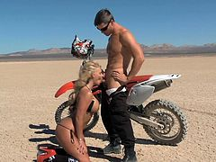 I took Phoenix out for a ride in the Nevada desert on my brand new dirt bike. She got turned on the motorcycles power and need to stop so she could suck my thick, throbbing penis. She let me suck her big boobs, too.