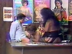 Big breasted brunette sweetie in black sexy stocking posed doggy style on sofa and enjoyed getting her kitty hammered with sex toy by her torrid pal.Just look at that steamy lesbo fuck in The Classic Porn sex video!
