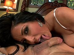 Take a look at this great hardcore scene where the sexy Kiara Mia shows off her big tits before being fucked by a large cock.