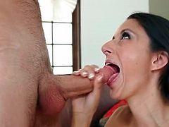 Thick cock down the throat of Nikki Daniels
