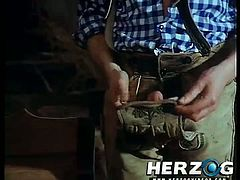 Checkout this classic vintage hardcore video. This busty brunette babe with hairy pussy, sucks a bbig cock and gets fucked in all possible positions and gets a cumshot on her face. Enjoy!