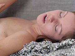 Naughty long and fair haired jade with tiny titties gets her pinkish vagina eaten greedily. Then that slender hottie payed by stout deep throat to her mature fuck dude..Take a look at that hot oral sex in Private sex clip!