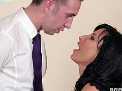 Make sure yu check out this hardcore scene where the sexy Lezley Zen is fucked by a guy until her mouth's filled by warm semen.