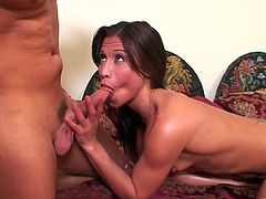Get excited by watching this Tahi brunette, with small breasts wearing a pretty dress, while she goes hardcore with a horny fellow.