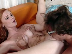 Extremely sexy and hot babe with nice body gives a blowjob and gets her tight pussy fucked hard riding a cock in cowgirl pose after the cunnilingus. Have a look at this chick in My XXX Pass sex video.