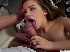Candy Alexa with phat butt is hungry for cock juice