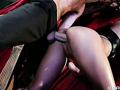 Playful asian porn girl Lana Violet kills time fucking with hard cocked guy Danny D