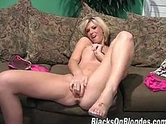Ace is the black dude with the monster cock that Brooke Haven spoils with her mouth and with her pussy. He rewards her with a load of cum on her meaty lips.