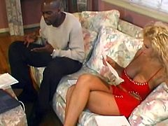 A motherfuckin' filthy whore takes this black dude's cock inside her pussy and fuckin' enjoys it, check it out right here!