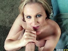 Make sure you take a look at this amazing hardcore scene where the busty blonde milf Julia Ann is fucked silly by this stud until he cums on her face.