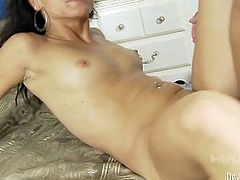 Lovely black haired honey looks like a cheap slut with that cock in her tight cunt. Young hoe gets her shaved cunt eaten and properly fucked in mish pose.