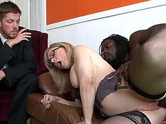 Never did horny mature, Suzie Diamond, had so much pleasure while being fucked by a black stud