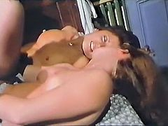 Those filthy lusty hotties with nice buttons posed doggy style and enjoyed getting fucked right away. Have a look at that steamy FFM fuck in The Classic Porn sex clip!