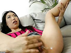 Teen Yiki gets her twat pounded ruthlessly by dudes erect dick