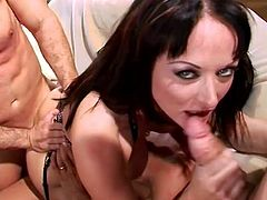 Never did Melissa Lauren had such pleasures in smacking two hard cocks deep in both her cramped holes