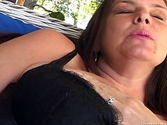 Horny and sexy dark haired busty bitch gets her shaved cunt licked and gets her cunt fucked by the finger. Have a look at this chick in Fame Digital sex clip.