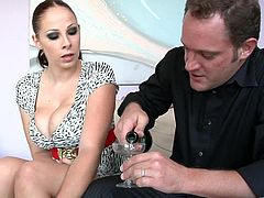 Gianna Michaels and Cayden Moore are playing dirty games with two men. The tarts make out and show their natural tits to each other, then give blowjobs to guys and get banged doggy style.