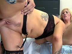 Tempting babes lick each others pussies and get fucked all possible styles in provocative Brazzers sex tube video. Be pleased with extremely hot FFM video for free.