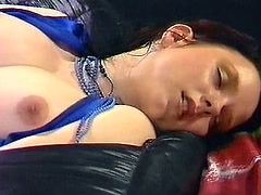 That slutty black haired wench with small titties lies on coach with legs spread and gets her kitty eaten greedily. have a look at that awesome sex in The Classic Porn sex clip!