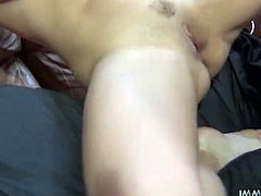 Black haired whorish chick with big boobs and sexy ass enjoys getting rewarded by hard doggy style fuck. Take a look at that lusty whore in My XXX Pass porn video!