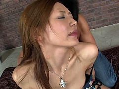 Kinky dude rims anal hole and licks pussy of Mio Kuraki