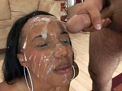she loves cum all over her face