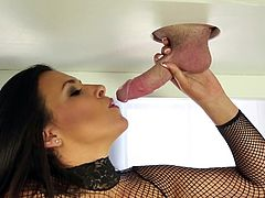 Alluring Danica Dillon sure knows her stuff in making her client feel amazing while deepthroating his tasty dick