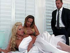 Wedding day threesome with Jada Stevens and Phoenix Marie