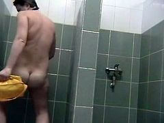 Voyeur managed to solve his naughty desires issue by installing a hidden cam in the girls shower