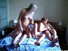 Usually girls live with girls but these babes are too hot for that. That is why they invited a couple of dudes to share one flat. Watch as soon it turns into a foursome.