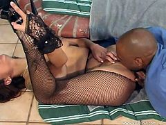 Have fun with this hot interracial scene where the smoking hot Nikita Denise is eaten out and fucked outdoors as she wears fishnet stockings.