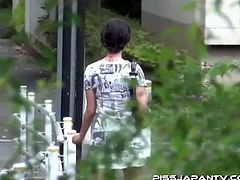Pervert asians with spy cam stalking on one hot asian babe and coincindentally she is urging to take a piss. Watch the trail of her piss got caught on these pervert's cam.
