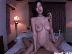 Beautiful Julia enjoys sucking and riding a big cock in her sexy panties and gets her precious mouth filled with hot cum.