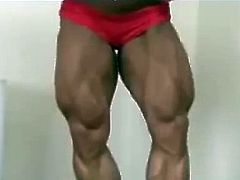 FBB - incredible leg muscle show