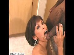 Mandy takes a load of cum from A BBC