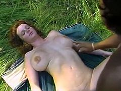 Black haired kinky harlot posed on knees to blow that sweet cock. Meanwhile light haired dirty chic set to lick smelly asshole of that guy from behind. Look at that steamy 3 some in The Classic Porn sex clip!