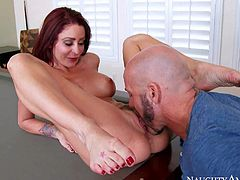 Monique Alexander gets her pussy hammered on a pool table