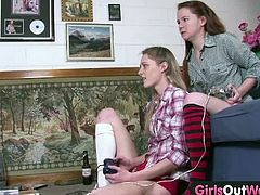 Checkout these two Young Australian lesbian girls with small boobs and hairy cunts play a video game before fingering and licking each other. These babes are home alone and decide to play other games. Watch how they finger their hairy pussies and masturbate. Enjoy!