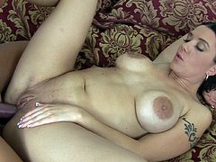 Time for their wet cherries to get fully enlarged by stiff strapon in amazing lesbian porn scene