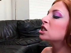 Hardcore Interracial action with busty Ginger Blaze. Beautiful red haired Ginger loves a cock, especially when its a big black one. She sucks it, she tit fucks it, and then she lets it fuck her wet hot pussy.