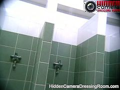 Voyeur hidden camera women take shower at public swimming pool.See these big tits and sexy big ass babes, taking, shower and rubbing their hot bodies, while we watch them.