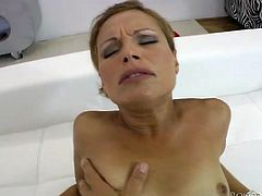 That short and fair haired MILF with small tits adores to blow sugary penis of her young guy. Later she gets her tacky pussy pounded from behind.Take a look at that dirty MILF in Fame Digital porn video!