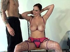 The amazing Gianna Michaels gives this lucky guy the sexiest tit job and rides his cock so she can get her precious boobs covered with hot cum.