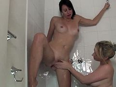 Make sure you don't miss this amateur lesbian hotties coming straight from Australia. Watch as they are taking a soapy shower and start to play with their tight pussies.